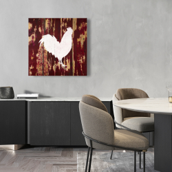 Canvas 24 x 24 - Rooster silhouette