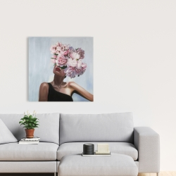 Canvas 24 x 24 - See life in flowers