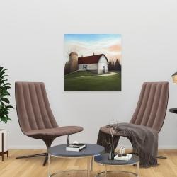 Canvas 24 x 24 - White barn view