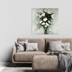 Canvas 24 x 24 - Lisianthus white bouquet