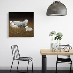 Canvas 24 x 24 - Sheep and lambs