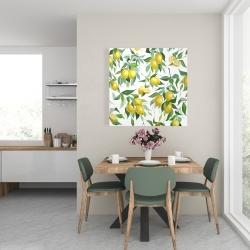 Canvas 24 x 24 - Lemon pattern