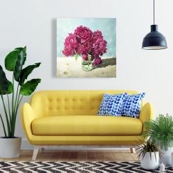 Canvas 24 x 24 - Fuchsia peony