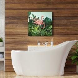 Canvas 24 x 24 - Tropical flamingo