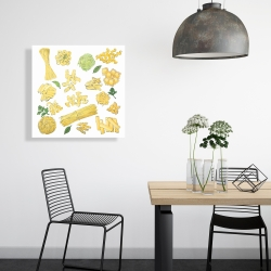 Canvas 24 x 24 - Various kind of pasta