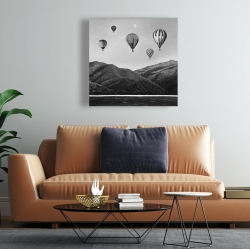 Canvas 24 x 24 - Air balloon landscape