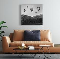 Canvas 24 x 24 - Air balloon landscape