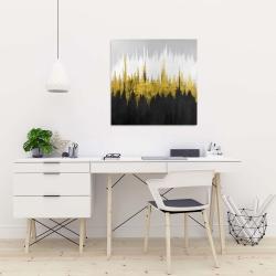 Canvas 24 x 24 - Golden zigzag