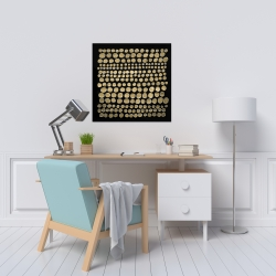 Canvas 24 x 24 - Dots on gold