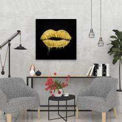 Canvas 24 x 24 - Golden lips
