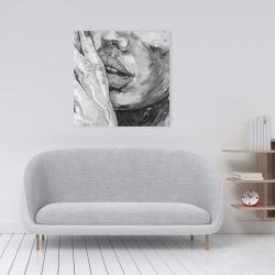Canvas 24 x 24 - Luscious lips
