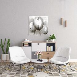 Canvas 24 x 24 - Three white tulips