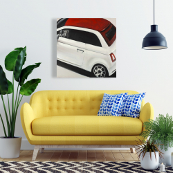 Canvas 24 x 24 - Italian red and white car