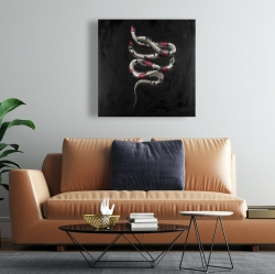 Canvas 24 x 24 - Snake flowers