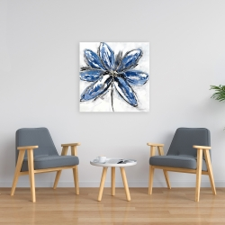 Canvas 24 x 24 - Blue petal