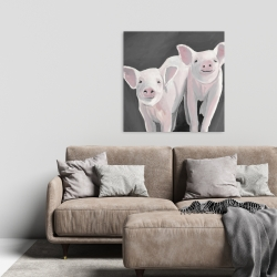 Canvas 24 x 24 - Two little piglets