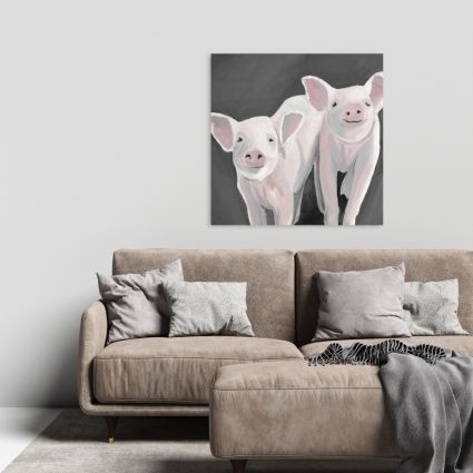 Two little piglets