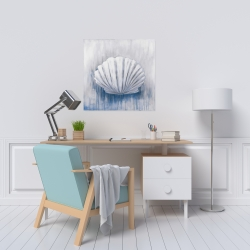 Canvas 24 x 24 - Blue feston shell