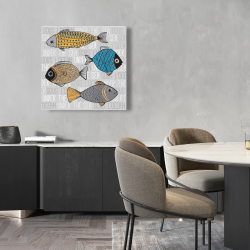 Canvas 24 x 24 - Fishes' illustration