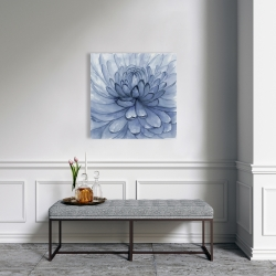 Canvas 24 x 24 - Blue petals flower