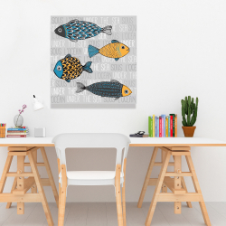 Canvas 24 x 24 - Illustration of nautical fish