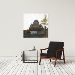 Canvas 24 x 24 - Le château de frontenac in autumn