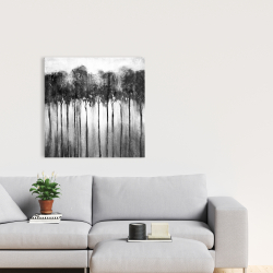 Canvas 24 x 24 - Abstract forest black and white