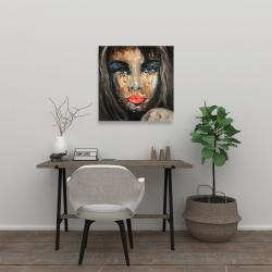Canvas 24 x 24 - Colorful portrait