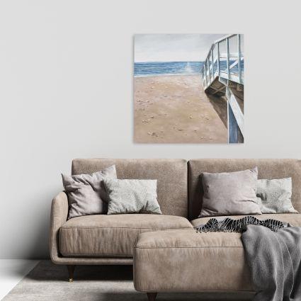 Doux paysage de bord de mer