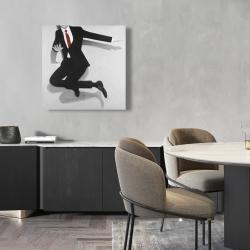 Canvas 24 x 24 - Classical jumping man