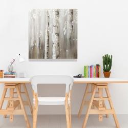 Canvas 24 x 24 - Delicate birch trees