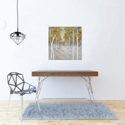 Toile 24 x 24 - Forêt de bouleaux jaunes