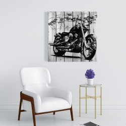 Canvas 24 x 24 - Motorcycle grey and black