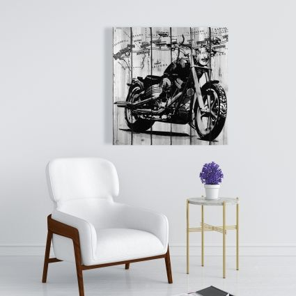 Motorcycle grey and black