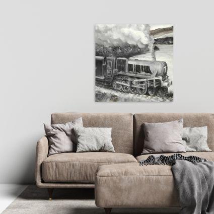 Vintage passenger locomotive