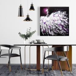 Canvas 24 x 24 - Purple peacock
