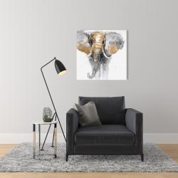 Canvas 24 x 24 - Golden elephant