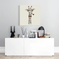 Canvas 24 x 24 - Funny giraffe with a pipe