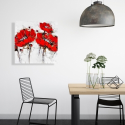Canvas 24 x 24 - Abstract poppy flowers