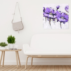 Canvas 24 x 24 - Abstract purple flowers