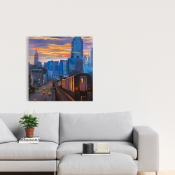 Canvas 24 x 24 - Subway in new-york city