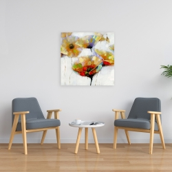 Canvas 24 x 24 - Color spotted flowers