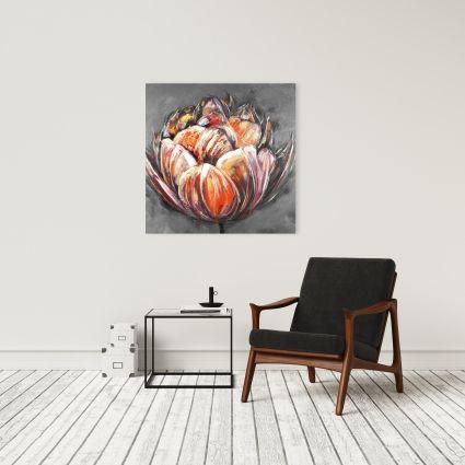 Tulipe orangé double et abstraite