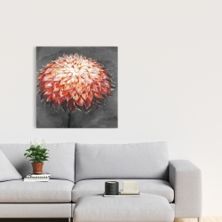 Canvas 24 x 24 - Abstract dahlia flower