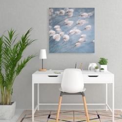 Canvas 24 x 24 - Delicate cotton flowers