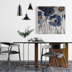 Canvas 24 x 24 - Blue blurry flowers
