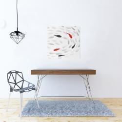 Canvas 24 x 24 - Swimming fish swirl