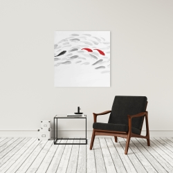 Canvas 24 x 24 - Swimming fish wave