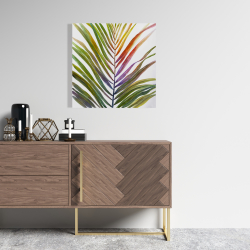 Canvas 24 x 24 - Watercolor tropical palm leave
