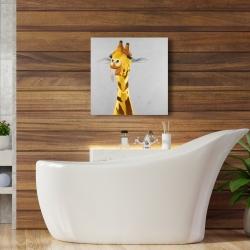 Canvas 24 x 24 - Funny giraffe face